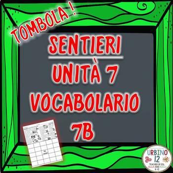 SENTIERI Unità 7 Vocabolario 7B  Le Faccende Bingo Game