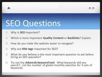 Search Engine Optimization SEO Lesson