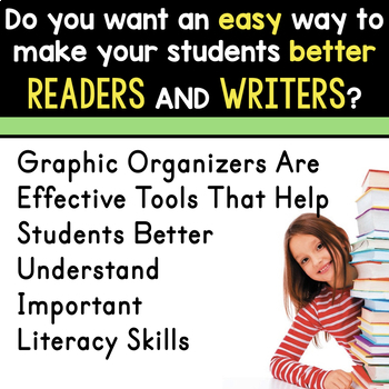 SEPTEMBER BUNDLE  Graphic Organizers for Reading  Reading Graphic Organizers