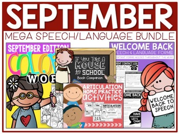 SEPTEMBER {Back-to-School}: Speech/Language Bundle