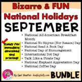 Bizarre and FUN National Holidays to Celebrate your Staff (SEPTEMBER BUNDLE)