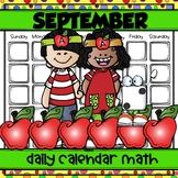 SEPTEMBER Daily Calendar Math for Kinders