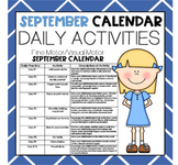 SEPTEMBER Fine Motor/Visual Motor (Daily Activities)