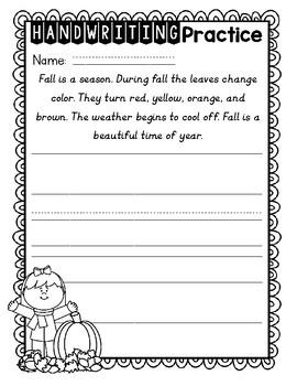 SEPTEMBER Handwriting Pack
