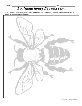 SEPTEMBER   Louisiana's state insect the Honey Bee has it's own month
