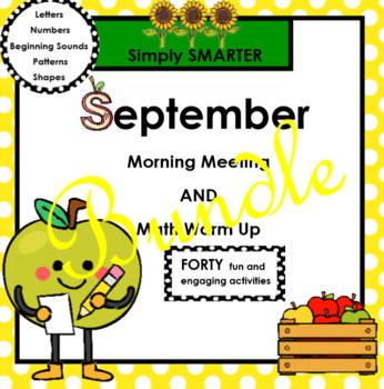 SEPTEMBER MORNING MEETING AND MATH WARM UP BUNDLE