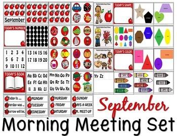 SEPTEMBER MORNING MEETING CENTER + EDITABLE TEACHER RESOURCES IN POWERPOINT
