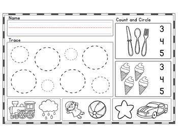 SEPTEMBER Kindergarten Morning Work    Phonics Writing Math