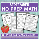 SEPTEMBER NO PREP MATH ACTIVITIES