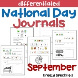 SEPTEMBER National Days Differentiated Journals for specia