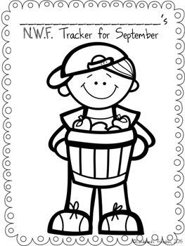 Back to School Nonsense Word Fluency SEPTEMBER RTI Assessment Pack