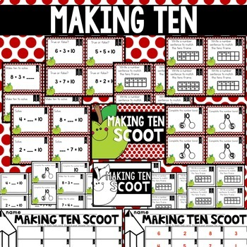 SEPTEMBER Scooting through the year - Place Value, Making Ten, Sentences