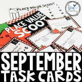 SEPTEMBER Task Cards - Place Value, Making Ten, Sentences