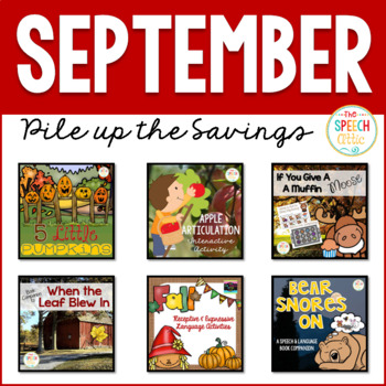 SEPTEMBER: Speech and Language Therapy Bundle