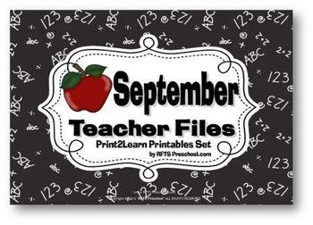 SEPTEMBER TEACHER {CLASSROOM FILES}