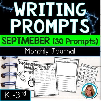 SEPTEMBER Writing Prompts Journal