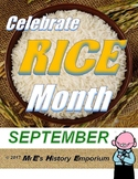 SEPTEMBER is LOUISIANA/U.S. Rice Month