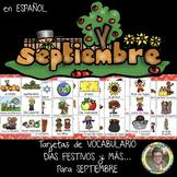 SEPTIEMBRE Tarjetas de Vocabulario, Días Festivos y MÁS ... Grados 1-3
