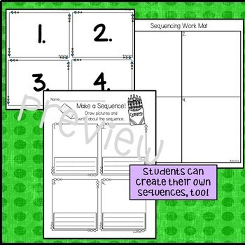 NEW! SEQUENCE IT! Task Cards and Practice Differentiated