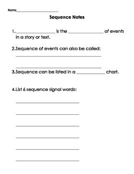 SEQUENCE Powerpoint Handouts