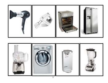 SPEECH THERAPY SEQUENCE for APPLIANCES GAME