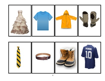 SPEECH THERAPY SEQUENCE for Clothing Game