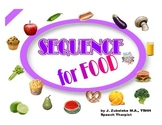 SPEECH THERAPY SEQUENCE for FRUIT, VEGETABLES & OTHER FOOD GAME