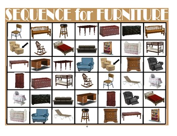 SPEECH THERAPY SEQUENCE for FURNITURE ITEMS GAME