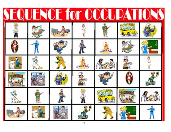 SPEECH THERAPY SEQUENCE for Occupations Game
