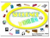 SPEECH THERAPY SEQUENCE for SCHOOL ITEMS GAME