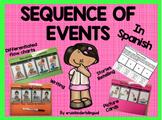 SEQUENCE of EVENTS in SPANISH ~KINDERGARTEN~
