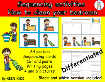 SEQUENCING - HOW TO CLEAN YOUR BEDROOM