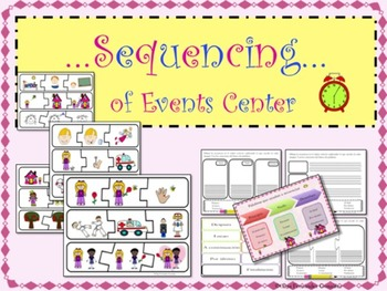 SEQUENCING LITERACY CENTER (CARDS, ANCHOR CHARTS, WORKSHEE