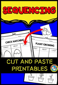 SEQUENCING ACTIVITIES CUT AND PASTE WORKSHEETS