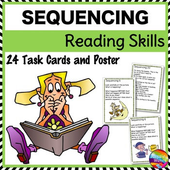 SEQUENCING Task Cards to Improve READING COMPREHENSION SKILLS