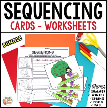 SEQUENCING cards and worksheets -  BUNDLE