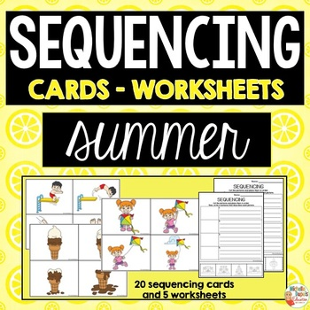 SEQUENCING cards and worksheets - SUMMER