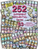 SEQUENTIAL PICTURE CARDS MEGA PACK! 204 DIFFERENT CARDS! 51 SEQUENCES/4-CARDS!