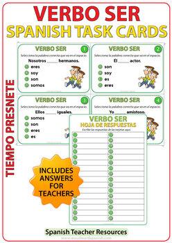 SER - Present Tense - Spanish Task Cards