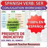 SER - Spanish Verb Conjugation Worksheets - Present Tense