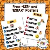 FREE SER VS. ESTAR POSTERS