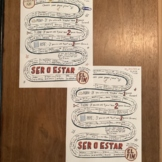 Ser and Estar ~Doctor and Place ~Spanish game board ~No Prep Spanish verbs