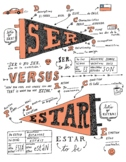 Ser and Estar ~Doctor and Place ~Spanish verb worksheet poster ~No Prep