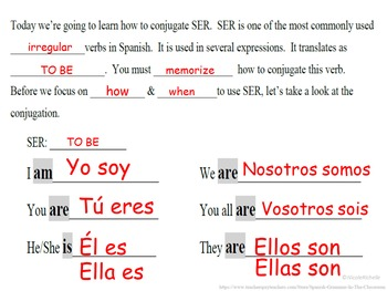 SER (to be) Conjugation and Usage Intro: Spanish Quick Lesson