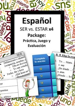 Español: SER vs. ESTAR bundle. X4 products!