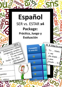 Español: SER vs. ESTAR package. X4 products!