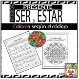 SER y ESTAR -color by number-