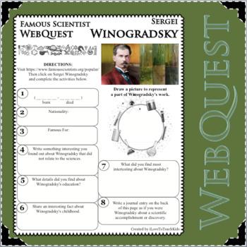 SERGEI WINOGRADSKY - WebQuest in Science - Famous Scientist - Differentiated
