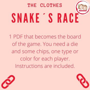 SERPIENTES Y ESCALERAS: LA ROPA (Snakes and ladders: The Clothing