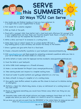 SERVE this SUMMER! 20 Service Activities for Kids